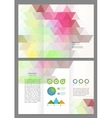 Abstract triangles Brochure Template vector image vector image