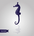 Abstract triangular seahorse vector image vector image