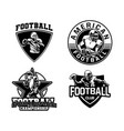 american football badge logo collection vector image