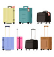 baggage or luggage suitcase on wheels tourism vector image vector image