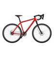 bicycle realistic fitness sport road race carbon vector image vector image