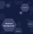 blue pentagon background for presentation vector image