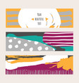 bright set with bright colored horizontal vector image vector image