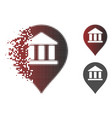 broken dotted halftone library map marker icon vector image vector image