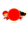 chinese boy and chinese girl cartoon have smile vector image