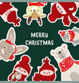 christmas posters template vector image vector image