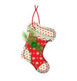 christmas sock decoration vector image