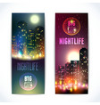 City at night vertical banners vector image vector image
