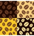coffee beans seamless pattern background pattern vector image vector image