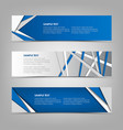 collection abstract horizontal banners with blue vector image