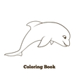 Coloring book dolphin cartoon educational vector image vector image