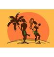Comic with aborigines vector image