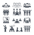 Corporate team icons professional people business