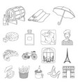 country france outline icons in set collection for vector image vector image