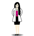 Doctor woman vector image vector image
