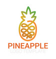 drawn one line pineapple vector image