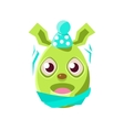 Easter Egg Shaped Green Easter Bunny Schievering vector image vector image