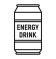 energetic drink icon outline style vector image vector image