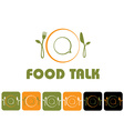 food talk and icon set vector image vector image