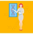 Future professions Futuristic occupation genetic vector image vector image