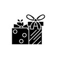 gift boxes black icon sign on isolated vector image vector image
