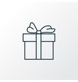 gift icon line symbol premium quality isolated vector image