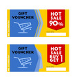 gift voucher hot sale coupon vector image