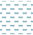 glasses seamless pattern with blue eye vector image