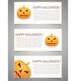 Halloween background with pumpkin Banner set vector image vector image