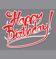 happy birthday sticker vector image