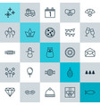 holiday icons set collection of knitted cap vector image vector image