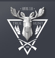hunter socirty elk vector image