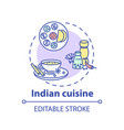 indian cuisine concept icon vector image