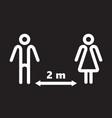 keep distance social vector image vector image