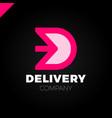 letter d logotype arrow letter d icon design vector image vector image