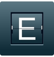 Letter E from mechanical scoreboard vector image