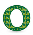 letter o christmas festive font icon vector image vector image