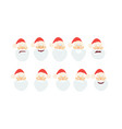 merry christmassanta claus cartoon in flat style vector image