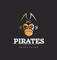 modern professional logo emblem pirates vector image