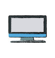 monitor screen computer device office equipment vector image vector image