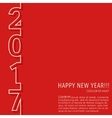 New year 2017 card vector image vector image