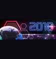 new year futuristic long vector image vector image