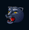 panther head in vintage style for tattoo animal vector image