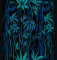 pattern of bamboo overgrown on a black background vector image vector image