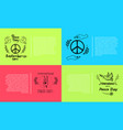 peace day september 21 set vector image