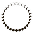 phases moon astronomy badge set monthly vector image vector image