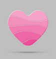 pink heart element romance valentine day concept vector image vector image