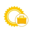 plastic tool box gear construction vector image vector image
