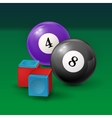 Pool table background with billiard vector image