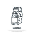 race arcade game line icon game machine symbol vector image